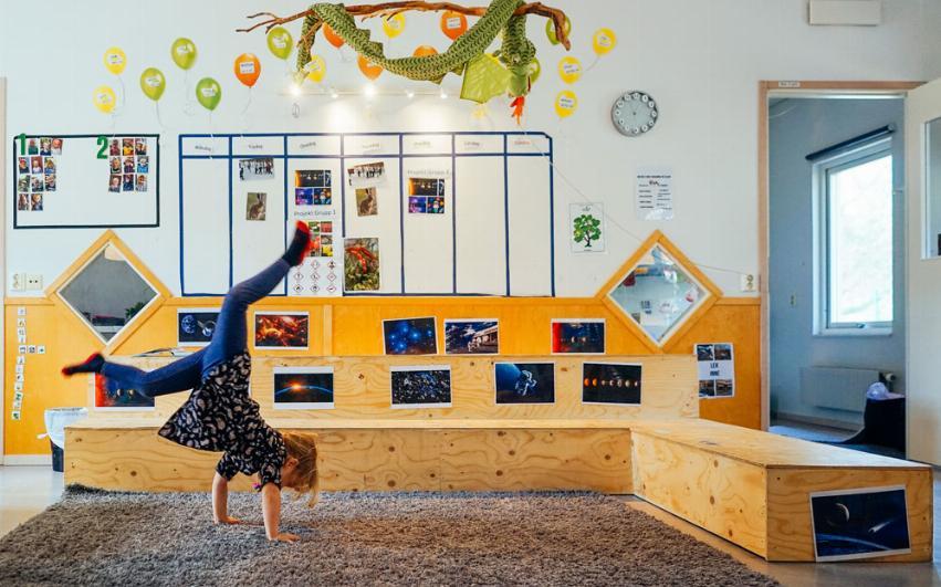 Hjulande barn i lärmiljö på Pysslingen förskola